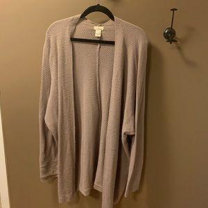 Wet Seal drapey open cardigan in lavender